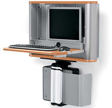 Computer Wall Desk by Enook Pro A Wall Mounted Workstation For Flat Screen Monitors