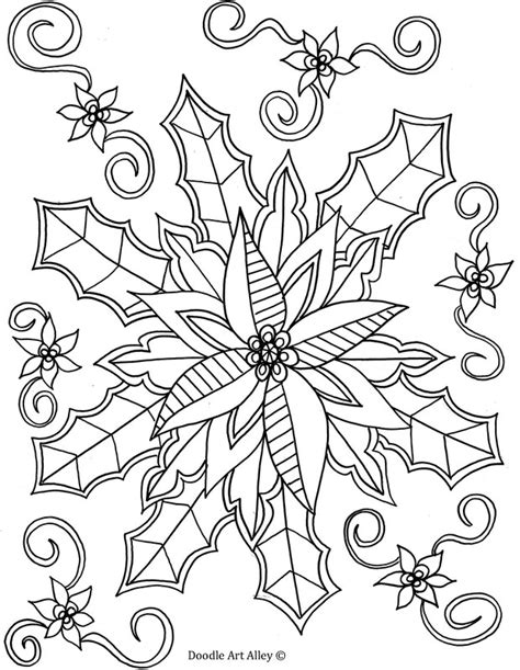winter coloring pages doodle art alley