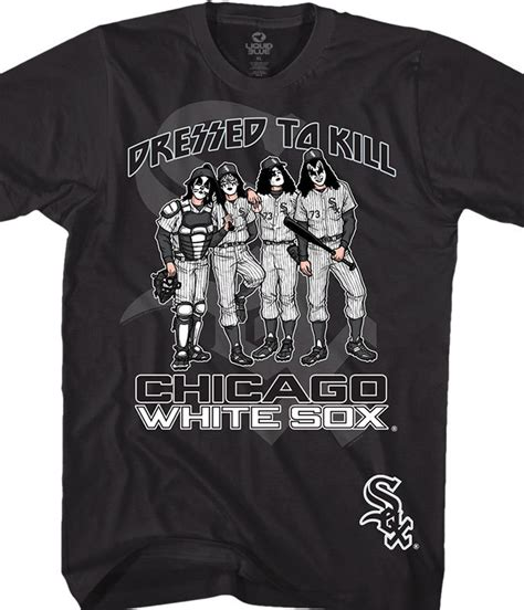 Kaos T Shirt Chicago White Sox mlb chicago white sox dressed to kill black t shirt