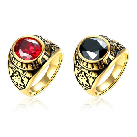 6 Bling Rings To Own by Ring Stainless Steel Rings Gold Plated Big Gem
