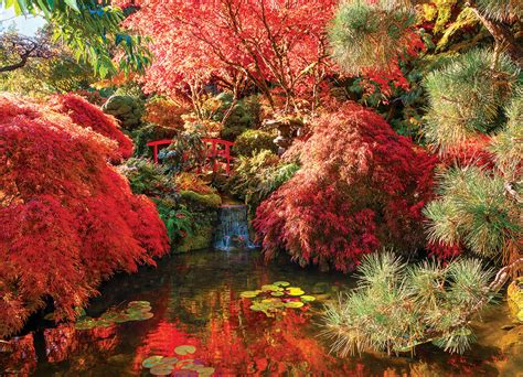 Garden Puzzle by Japanese Garden The Butchart Gardens Jigsaw Puzzle