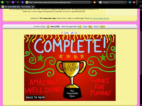 theme impossible quiz the impossible quiz try to beat the quiz by answering