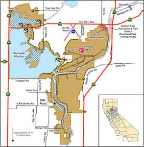 where is oroville california on a map oroville wildlife area