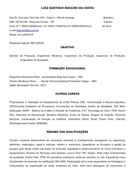 Modelo Curriculum Vitae Tecnico Mecanica Automotriz Curriculo Eng 186 Mec 226 Nico 08 12 13