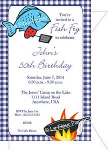 items similar to fish fry party invitations amp envelopes