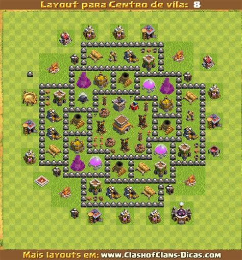 layout hibrido cv 8 4 morteiros layouts de centro de vila 8 para clash of clans clash of
