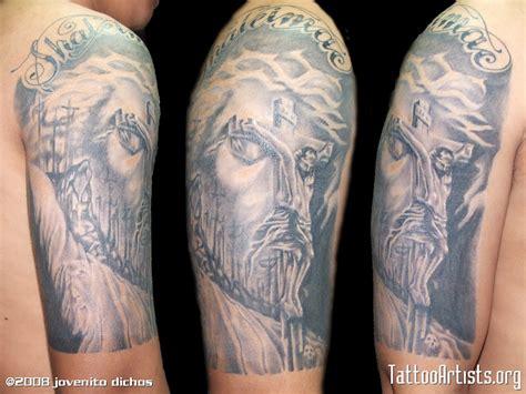 jesus tattoo illusion black and gray tattoo artists org