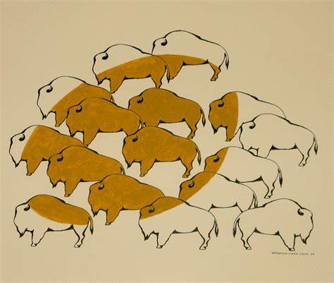 Barnes Design Ltd Bison Study By Benjamin Chee Chee Woodlands Art Original