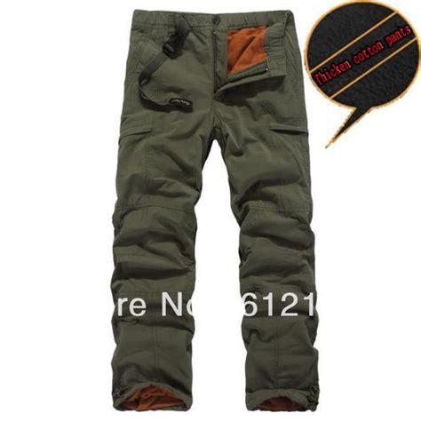 Celana Dalam Untuk Olahraga musim dingin lapisan ganda kargo celana pria olahraga outdoor hangat celana celana baggy celana