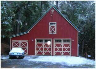big country garage  built  inexpensive stock