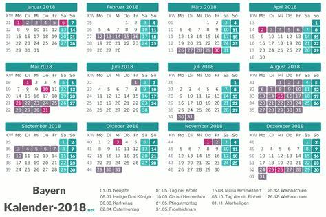 Kalender 2018 Bayern Schulferien Ferien Bayern 2018 Ferienkalender 220 Bersicht