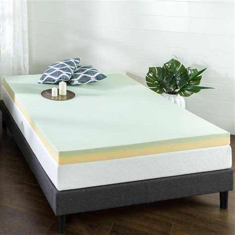 zinus   green tea queen short memory foam mattress