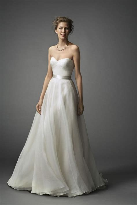 simple a line sweetheart wedding dresscherry