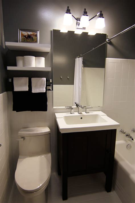 Small Dark Bathroom Ideas by A Small Bathroom Makeover Before And After