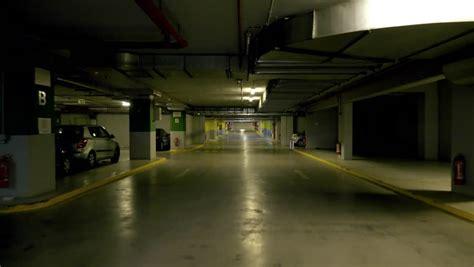 underground parking 4k pov drive through underground parking garage real time