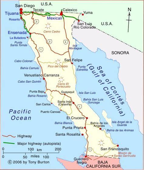 baja mexico map clickable interactive map of baja california state mexico