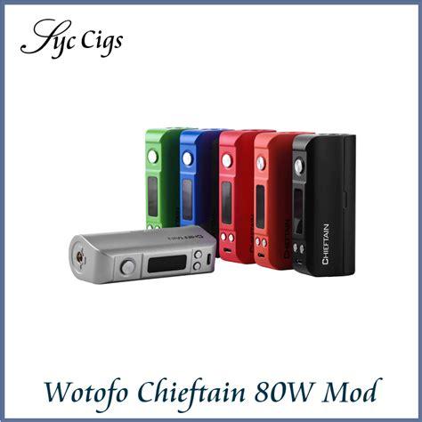 Supervapor Wotofo Chieftain 80w Tc Box Mod Black original wotofo chieftain 80w tc box mod with wattage diy function 80w chieftain tc vw box mod