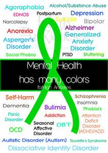 depression ribbon color mental health awareness