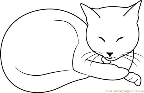 sleepy cat coloring page sleeping beauty cat by kahinaspirit coloring page free