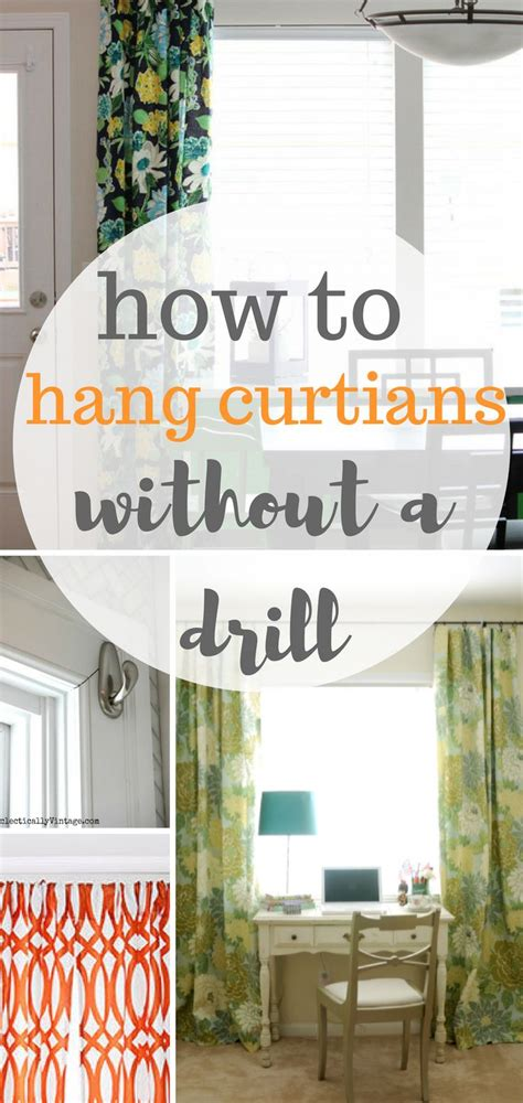 how to hang curtains without drilling 1000 ideas about hanging curtains on pinterest window