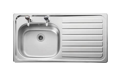 stainless steel kitchen sink right hand drainer leisure lexin le95r 1 0 bowl 2th stainless steel inset