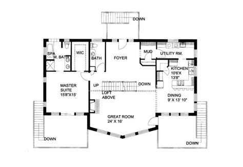 house plans with view waterfront view house plans home design and style