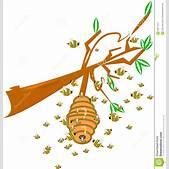 Cartoon bee hiv...