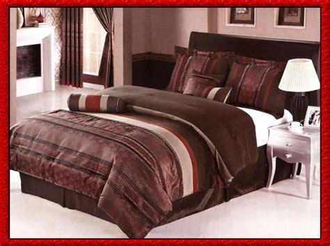 burgundy and brown comforter set 7 pcs modern royalty bedding comforter set bed in a bag