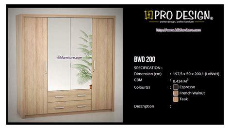 Hawaii Pro Design Lemari Pakaian 4 Pintu Minimalis lemari baju 4 pintu pro design bwd 200 l batavia