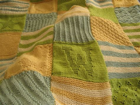 Patchwork Baby Blanket Knitting Pattern - knitting patterns for patchwork baby blankets