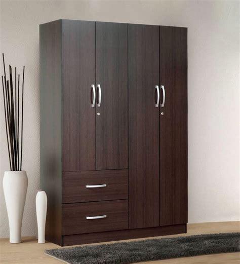 4 door armoire buy rikotu four door wardrobe with two drawers in wenge