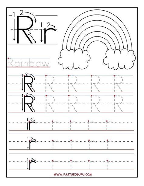 printable alphabet letter line printable letter r tracing worksheets for preschool