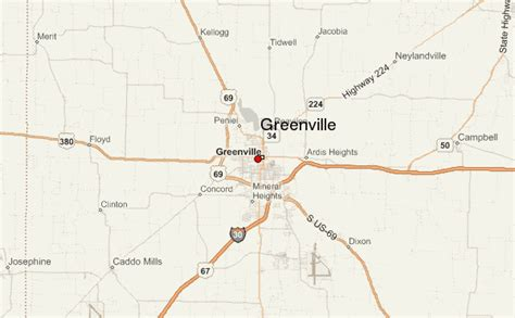 map of greenville texas greenville texas location guide