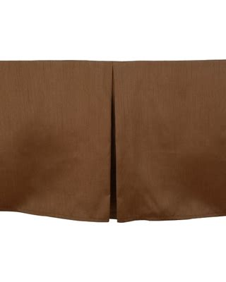 brown bed skirt upscale hotel resort shantung bed skirt chocolate brown
