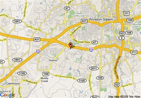 map of microtel inn and suites winston salem winston salem
