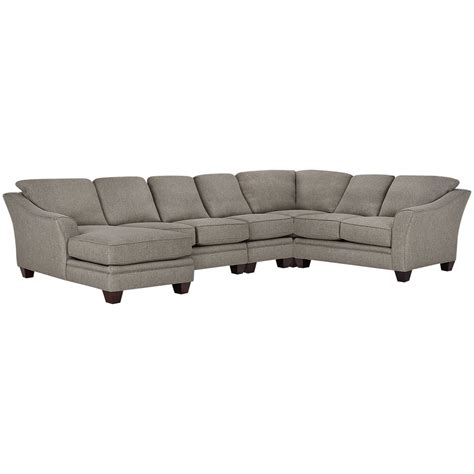 gray fabric sectional with chaise city furniture avery gray fabric large left chaise