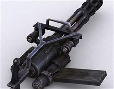 Kaos 3d Gafting Gun gatling gun 3d models 3d gatling gun files cgtrader