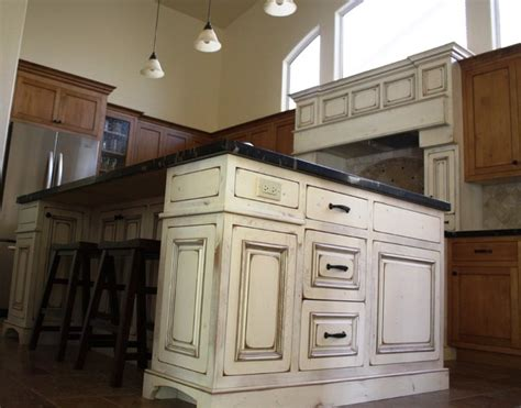 antique island for kitchen antique white island traditional kitchen phoenix