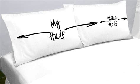 bed pillow cases my half your half pillows pillow cases my side your side