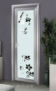 Silver white aluminum frame frosted glass interior door