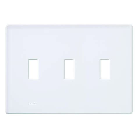 hton bay wood architectural 3 toggle wall plate white