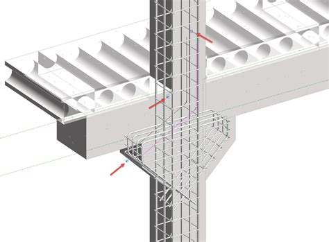 Precast Concrete Corbels precast column with corbels in revit bim and beam