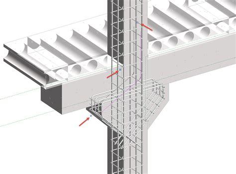 Corbel Beam Design precast column with corbels in revit bim and beam