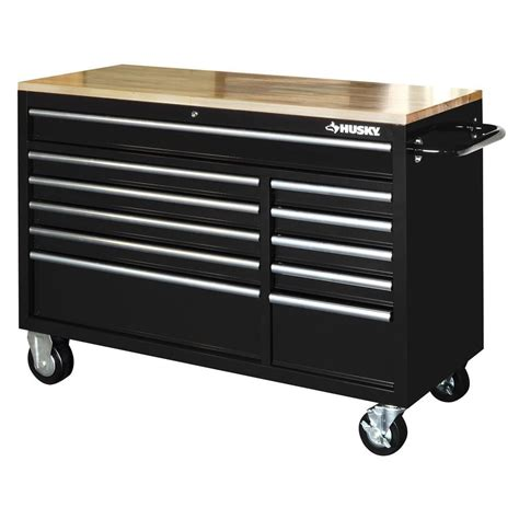 husky tool bench husky tool chest box 52 in 11 drawer toolbox cabinet 22