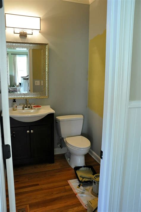 powder room makeover thrifty powder room makeover