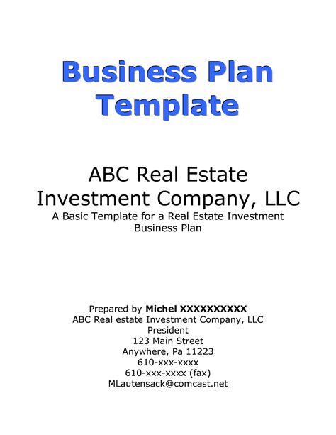 cover page for business plan template how to write business plan cover page for investors