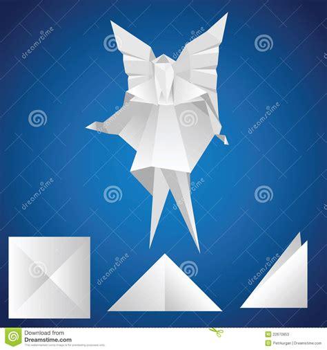 Engel Origami - engel origami vector illustratie afbeelding bestaande