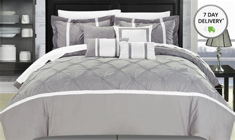 embellished comforter set groupon goods