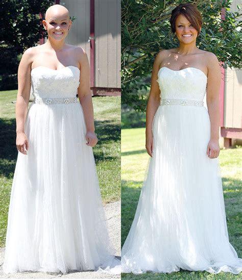 brides with alopecia bride with alopecia wears dream wig on wedding day