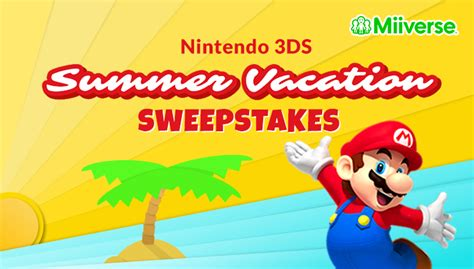 Nintendo Switch Post Sweepstakes - miiverse nintendo 3ds summer vacation sweepstakes nintendo official site